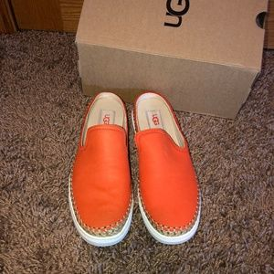 Ugg Caleel Orange Slip On Sneakers Shoes 7 New